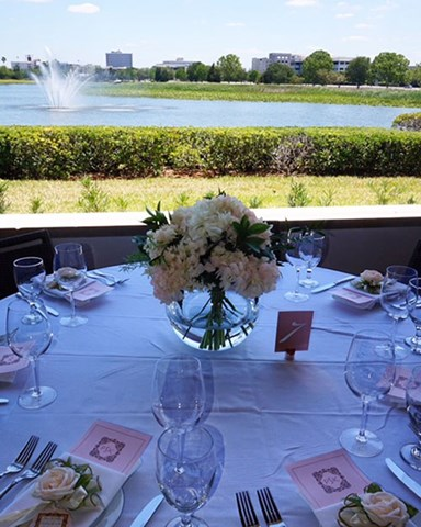 Outdoor table setting at Ocean Prime Tampa