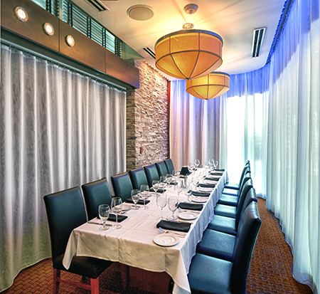 Ocean prime orlando rialto the club room prime for Best private dining rooms orlando