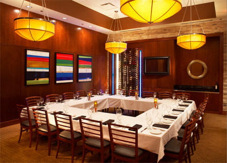 Ocean prime orlando rialto prime room 2 prime for Best private dining rooms orlando