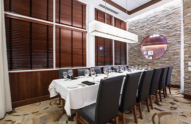 The Board Room private dining room at Ocean Prime Tampa