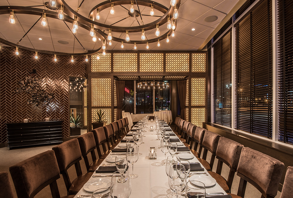 back bay room one long table - Private Dining Room Boston