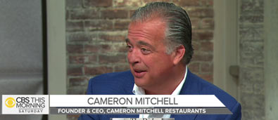 Founder and CEO, Cameron Mitchell, on CBS's The Dish