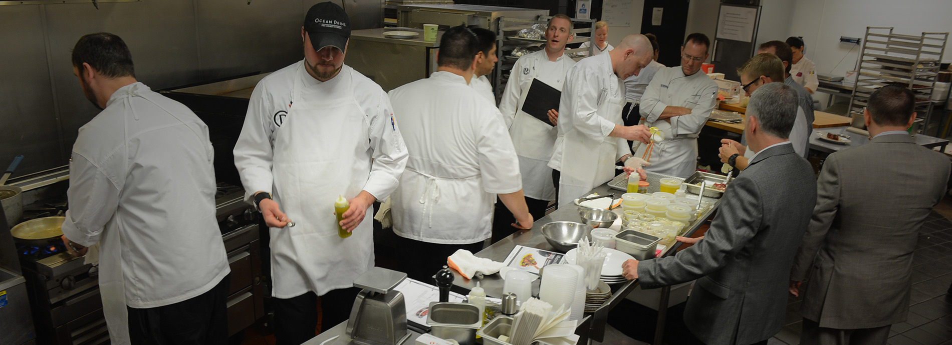 Ocean Prime team working in the kitchen