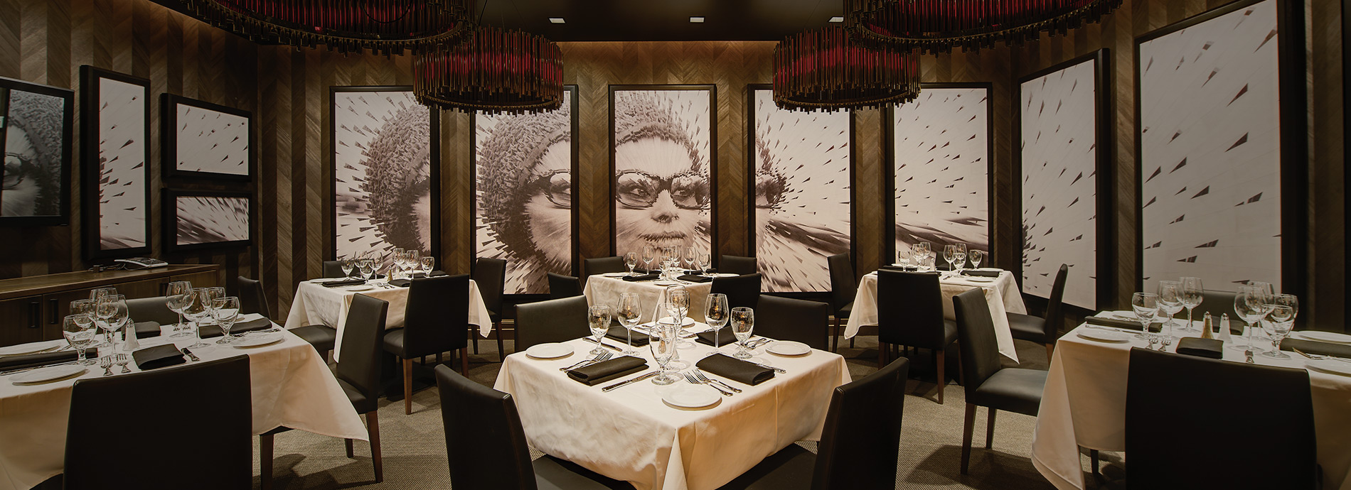 Interior of Ocean Prime private dining space