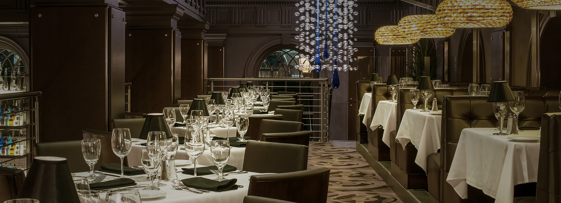 Interior of Ocean Prime restaurant